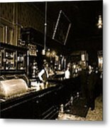 Interior Cabinet Saloon 68 W. Congress Tucson Arizona  C.1910-2011 Metal Print