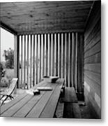 Interior End Of Porch With Vertical Louvers Metal Print