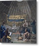 Interior Of A Kalmuk Yurt, 1812-13 Metal Print