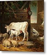 Interior Of A Stable, 1810 Metal Print