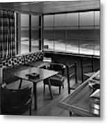 Interior Of Beach House Owned By Anatole Litvak Metal Print