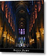 Interior Of Notre Dame De Paris Metal Print