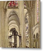 Interior Of The Cathedral Of St. Etienne, Sens Metal Print