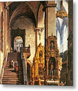 Interior Of The Dominican Church In Krakow Metal Print