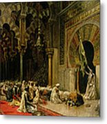 Interior Of The Mosque At Cordoba Metal Print