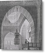 Interior Of The Mosque Of Kaid-bey Metal Print