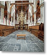 Interior Of The Oude Kerk In Amsterdam Metal Print