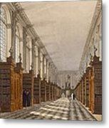 Interior Of Trinity College Library Metal Print