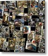 Interior Russian Submarine Horz Collage Metal Print