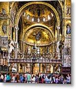 Interior St Marks Basilica Venice Metal Print