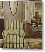 Interior With Chair Metal Print