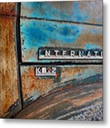 International Pickup Hood Metal Print by Dick Wood