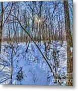 Intersecting Snow Streams Metal Print