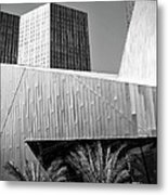 Intersection 2 Bw Las Vegas Metal Print