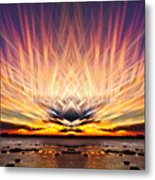 Intersections In The Sky Metal Print