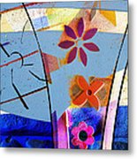 Interstate 10- Exit 256- Grant Rd Underpass- Rectangle Remix Metal Print