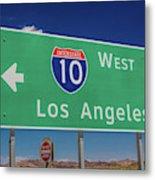 Interstate 10 Highway Signs Metal Print