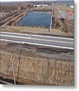 Interstate 75 Construction Ohio Aerial Metal Print