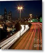 Interstate Traffic In Seattle Washington Metal Print
