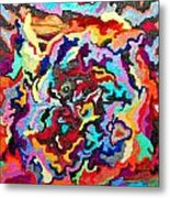 Intertwined Rainbow Metal Print