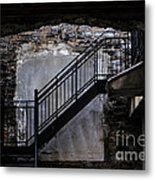 Into The Alley - Old Montreal Metal Print