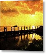 Into The Blaze Metal Print