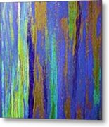 Into The Blue Abstract 2 Metal Print