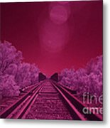 Into The Darkness Of Light Metal Print