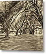 Into The Deep South - Paint 2 Sepia Metal Print