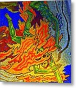 Into The Flames Of Hell Metal Print