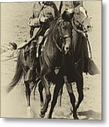 Into The Fray - Confederate Generals Metal Print