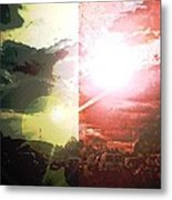 Into The Grid Metal Print