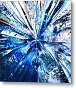 Into The Icy Blue Metal Print