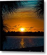 Into The Sunset Metal Print by Anne Kitzman