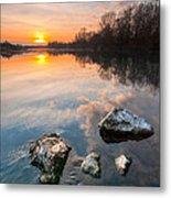 Into The Sunset Metal Print