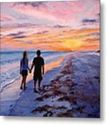Into The Sunset Metal Print by Mary Giacomini