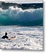 Into The Surf Metal Print