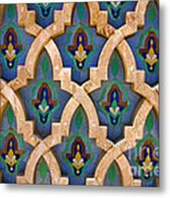 Intricate Zelji at the Hassan II Mosque Sour Jdid Casablanca Morocco Metal Print