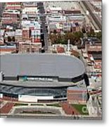 Intrust Bank Arena And Old Town Wichita Metal Print