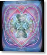 Intwined Hearts Chalice Wings Of Vortexes Radiant Deep Synthesis Metal Print