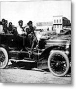 Inuits In Car, C1906 Metal Print