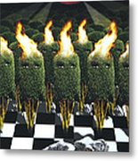 Invasion Of The Alien Bushes Metal Print by Larry Butterworth