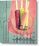 Invention Of The Ice Pop Metal Print