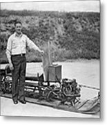 Inventor Of First Snowmobile Metal Print