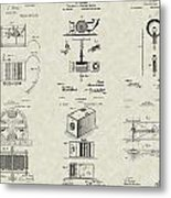Inventors Patent Collection Metal Print