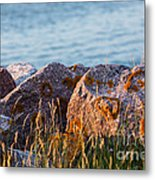 Inverness Beach Rocks  Metal Print