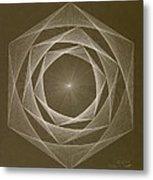 Inverted Energy Spiral Metal Print