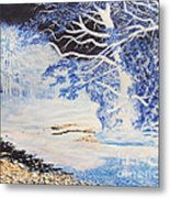 Inverted Lights At Trawscoed Aberystwyth Welsh Landscape Abstract Art Metal Print
