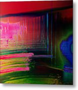 Invisible Collision Metal Print