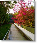 Inviting Garden Alley Metal Print